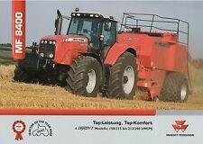 Prospekt Massey Ferguson MF 8400 10 05 2005 Trecker Traktor Schlepper tractor