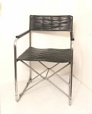 Vintage MCM Takeshi Nii Suekichi Uchida Japan Folding Chair X Metal Vinyl Black