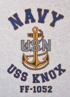 USS KNOX   FF-1052* FRIGATE* U.S NAVY W/ ANCHOR* SHIRT