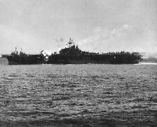 "Kamikaze Crashes on flight deck of USS Essex 8""x 10"" World War II WW2 Photo 502"