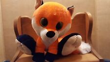 Ideal Toys Silly Paw Pals  Orange Fox 9 in size big eyed plush stuffed animal