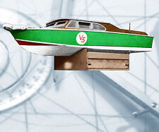 "Model Boat Full Size Printed Plan 52"" .35cc Radio Control boat Plan & build note"