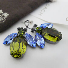 NWT COACH Pave Crystal Bumble Bee Earring Michelle Trachtenber Drop Earrings NEW