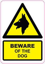 BEWARE OF DOG Sign Sticker Vinyl Warning Security 210x148mm