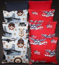 US NAVY SEALS Patriotic Amercan USA Cornhole Bean Bags 8 ACA Regulation USN Bags