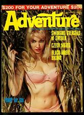 Adventure Pulp Magazine  October 1967- Pin up cover- Cheesecake- VG+