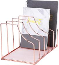 Simmer Stone File Sorter Organizer 5 Section Magazine Holder Rack Desktop Wire