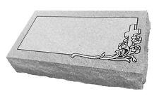 "Granite Headstone Bevel  ( L20"" x W10"" x H6"" ) w/ Design"