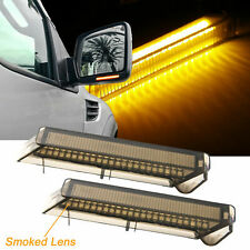 For Ford Expedition 97-2007 Smoked LED Under Side Mirror Turn Signal Light Lamps