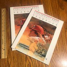 Cincinnati Reds/ Yearbook/ Lot of 2/ 1985/ Baseball Cards/ Pete Rose/ Program