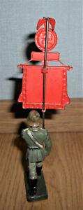 rare LINEOL german wehrmcht soldier pennant political standard barrier WWII