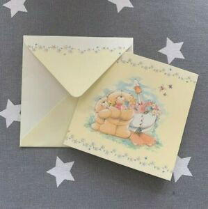 MINI / SMALL CUTE FOREVER FRIENDS SQUARE CARDS FLORAL HALLMARK ANY OCCASION