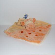 Doudou Girafe Mots d'enfants - Orange