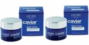 2 x Lacura Caviar Illumination Luxury Night Cream/Anti Ageing/50ml
