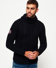 Superdry Mariner Hood Cardigan (navy Twist) Super Dry Mens Hoody Top Knitted