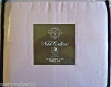 NWT $45 NOBLE EXCELLENCE TWIN EXTRA LONG SHEET SET PINK 100% COTTON 300TC