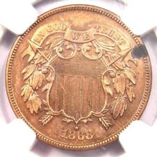 1868 PROOF Two Cent Coin 2C - NGC Proof Detail (PR / PF) - Rare Proof Coin!