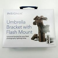 Umbrella Bracket w/ Shoe Mount Black Connect Light Stand Umbrella Flash Metal
