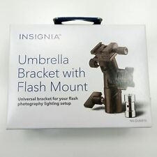 Umbrella Bracket w/ Shoe Mount Black Connect Light Stand Umbrella Flash Metal