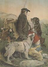 Jagd Jäger Schottland highlands highlander Kilt Scotland Schotten-Mütze Jagdhund