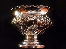 Ornate English Sterling Silver Pedestal Dish by Vale Bros. & Sermon 1898