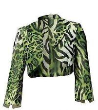 Heine Bolero Gr. 40  grün schwarz Animal-Look Jacke  NEU