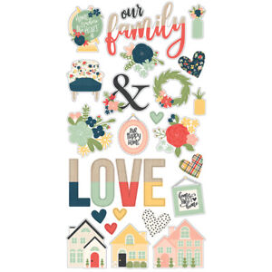 Simple Stories So Happy Together Collection Chipboard Stickers 11714