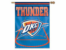 """Oklahoma City THUNDER NBA Vertical Banner Flag Wincraft 27 by 37"""" New in Package"""
