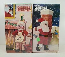 Unused - Mr & Mrs Santa Christmas Crochet Sets - Vogart Crafts - #3201 & #3202