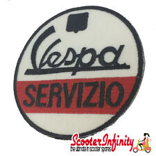 Patch Clothing Sew On - Vespa Servizio (No. 1) (Mod) (75mm, 75mm)