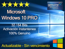 WINDOWS WIN 10 PRO 32/64 BITS KEY/CLAVE -100% ORIGINAL - MULTILENGUAJE