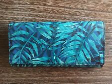 JACK SPADE BLUE PALM LEAF LEATHER MENS DESIGNER CONTINENTAL JACKET WALLET - NWT
