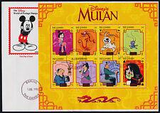 Gambia 2043 on FDC - Disney, Mulan