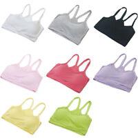 Women Sports Bras Cotton Solid Strap Underwear Yoga Fitness Gym Bra Vest Top Bra
