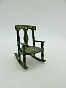 Vintage Renewal Plastic Rocking Chair No. 65, Hand Painted, Dollhouse,  1:12