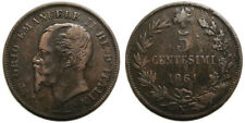 5 centesimi 1861 N, testa grande e tozza - R