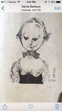 Original Foujita Limited Edition Print on Rice Paper, Signed And Numbered