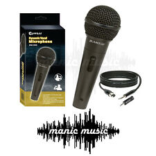 SANSAI Dynamic Microphone Mic + Free Cable + Adapter Karaoke Recording Studio DJ