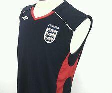 ENGLAND National Soccer Football Team Sleeveless Navy Red Jersey Shirt Mens L