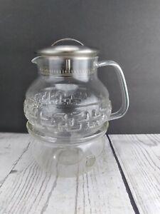 Teavana Glass Tea Set With Warmer Base