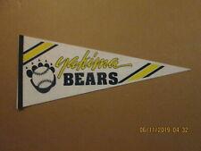NWL Yakima Bears Vintage Defunct Circa 1990's Team Logo Baseball Pennant
