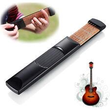 Portable Pocket Acoustic Guitar 6 String 4 Fret Model Practice Guitar Tra Pro AU