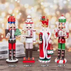 35cm Traditional Wooden Nutcracker Soldier Decoration Christmas Ornament