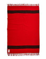 Hudson's Bay Company HBC Wool Scarlet Caribou Throw Blanket