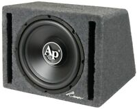 "NEW 12"" Powered Car Audio Bass Subwoofer Speaker.Ported Enclosure Box.Active."
