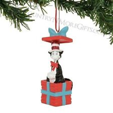 Dept 56 2017 Dr. Seuss Cat In A Box Ornament #4057491 New Free Ship 48 States