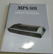 COMMODORE MPS 801 DOT MATRIX PRINTER USER MANUAL    USED