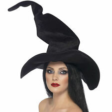 Deluxe Tall Large Witches Hat Womens Halloween Witch Fancy Dress Costume