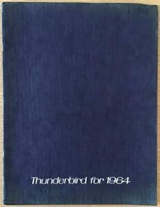 FORD THUNDERBIRD LF USA Car Sales Brochure 1964 #FDC-6405 9/63