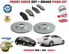 Front Brake Discs /& Pads Set for Peugeot 508 1.6 02//12-04//16